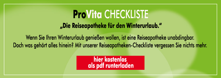 checkliste reiseapotheke winter