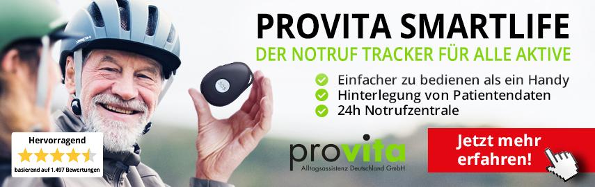 ProVita Smartlife - der mobile Notruf für alle Aktive